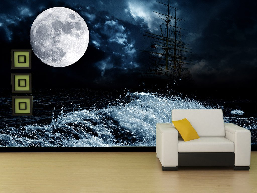 Beach Full Moon Wallpaper AJ Wallpaper