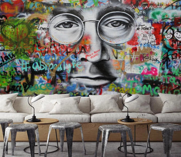3D Graffiti Face Art 384 Wallpaper AJ Wallpaper