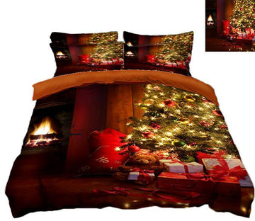 3D Christmas Decorative Lights 51 Bed Pillowcases Quilt Quiet Covers AJ Creativity Home