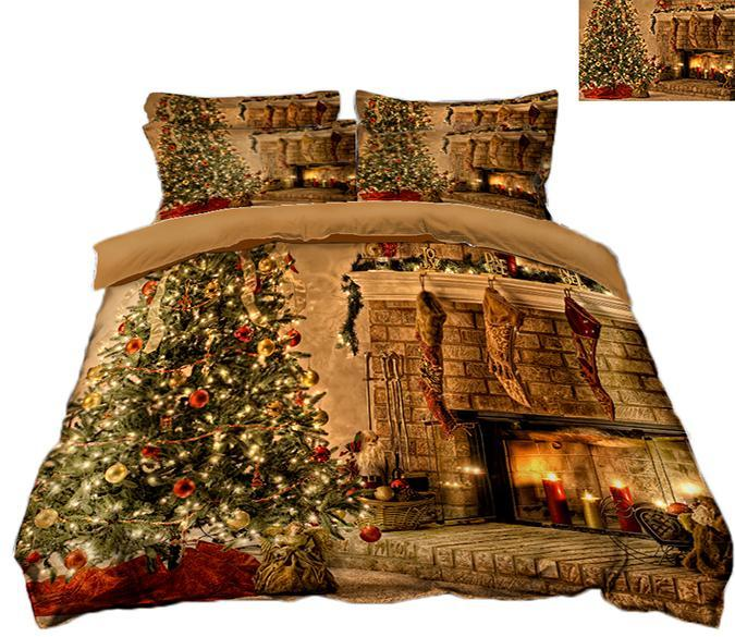 3D Christmas Hanging Ornament 54 Bed Pillowcases Quilt Quiet Covers AJ Creativity Home