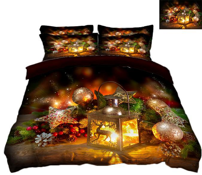 3D Christmas Silver Ball 82 Bed Pillowcases Quilt Quiet Covers AJ Creativity Home