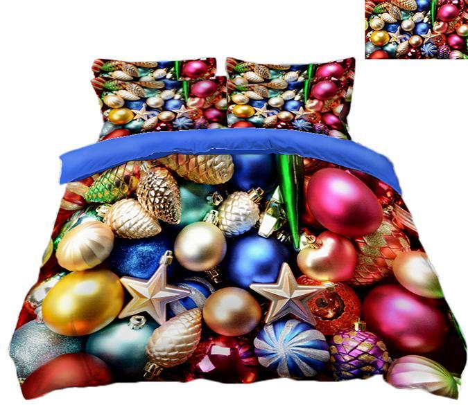 3D Christmas Colored Beads 85 Bed Pillowcases Quilt Quiet Covers AJ Creativity Home