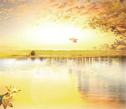 3D Autumn River Scenery 44 Wallpaper AJ Wallpaper