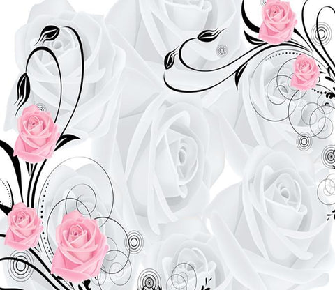 3D Beautiful Pink Rose 3 Wallpaper AJ Wallpapers