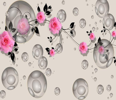 3D Branch Flower Jasmine 181 Wallpaper AJ Wallpaper