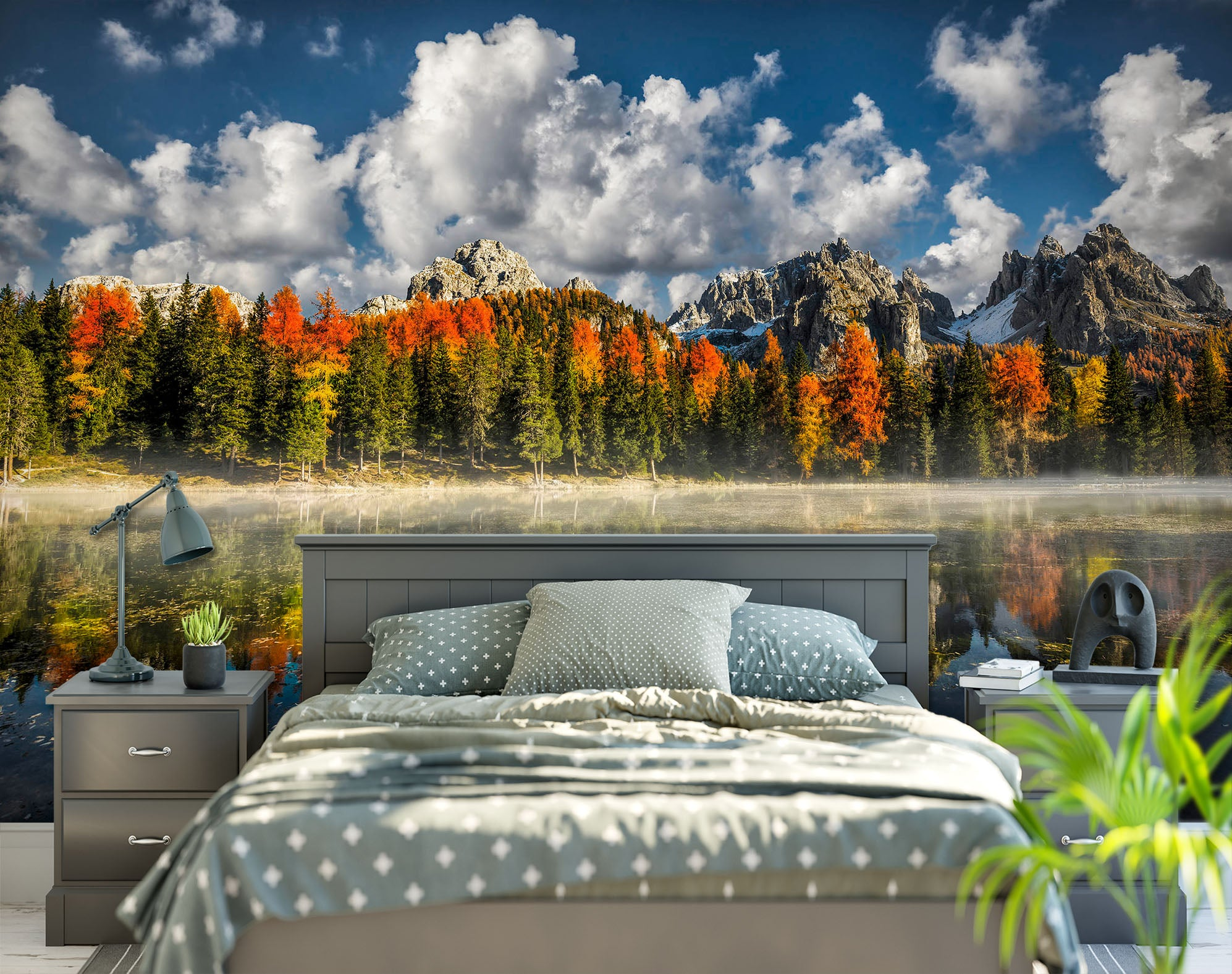 3D Forest Lake 1407 Marco Carmassi Wall Mural Wall Murals