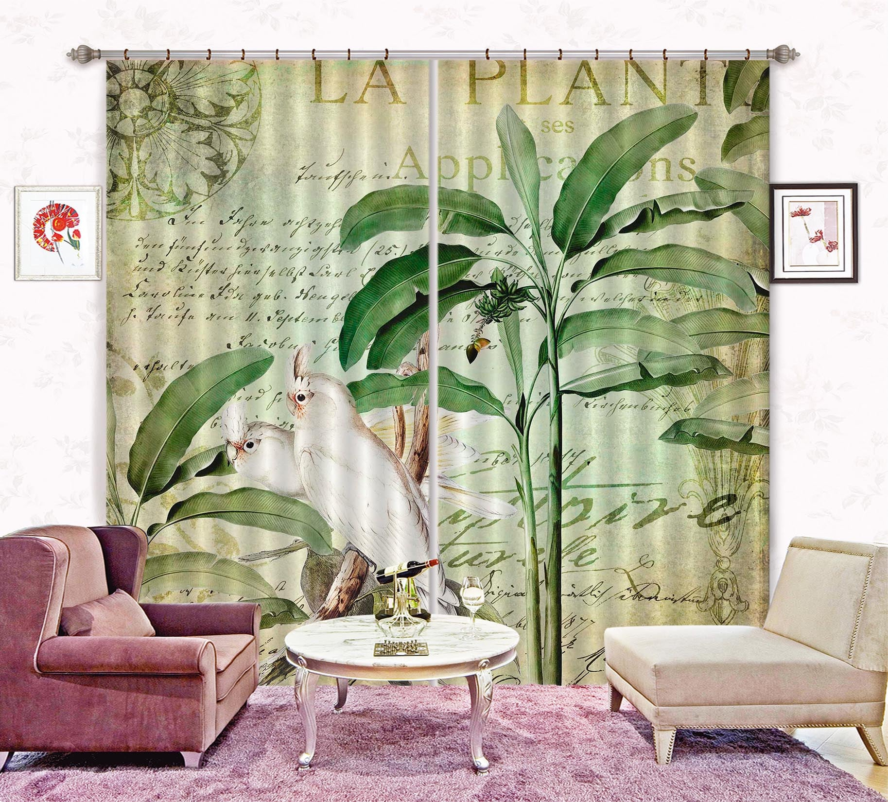 3D White Bird 070 Andrea haase Curtain Curtains Drapes