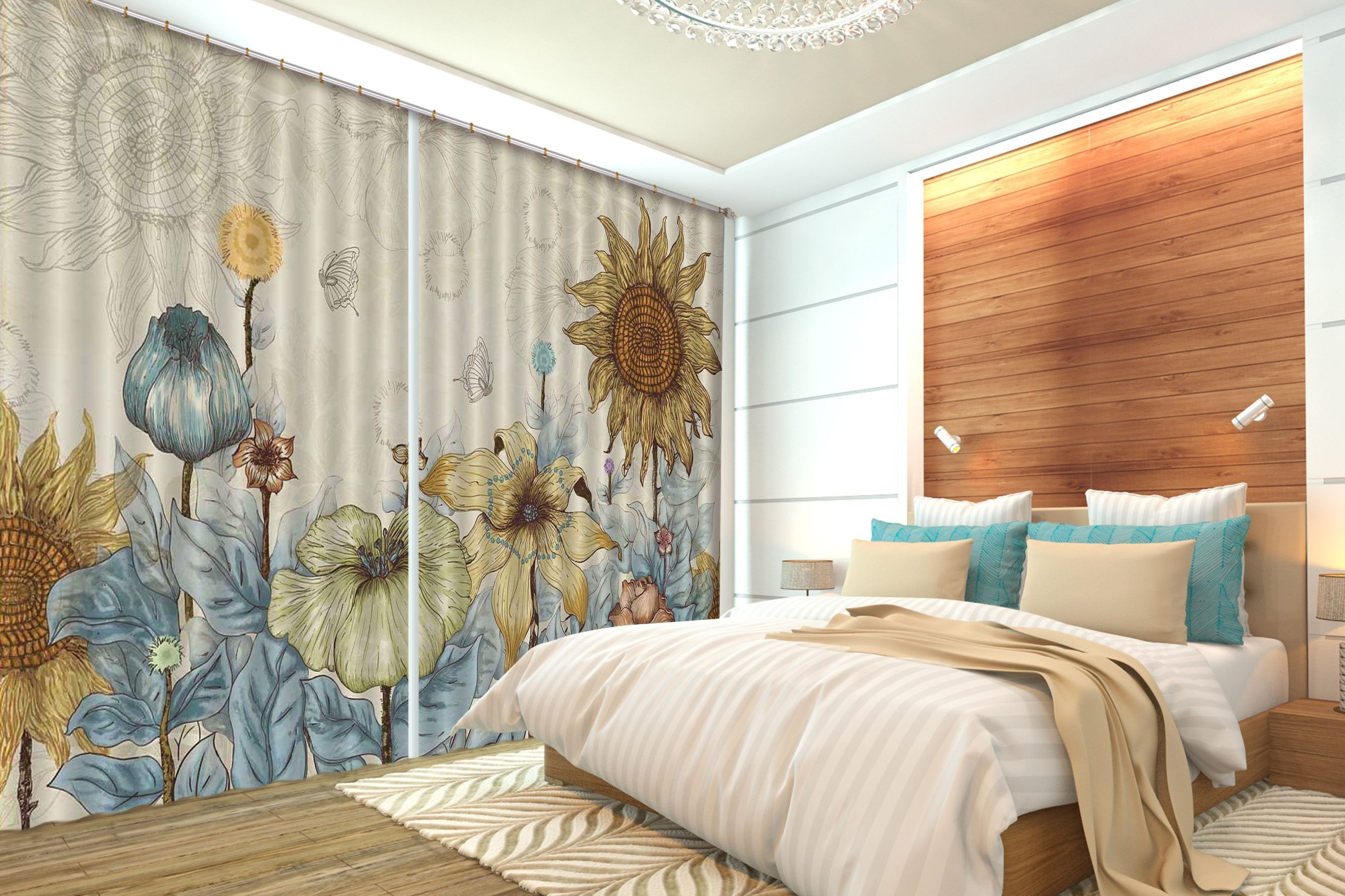 3D Flowers Pattern 2284 Curtains Drapes Wallpaper AJ Wallpaper