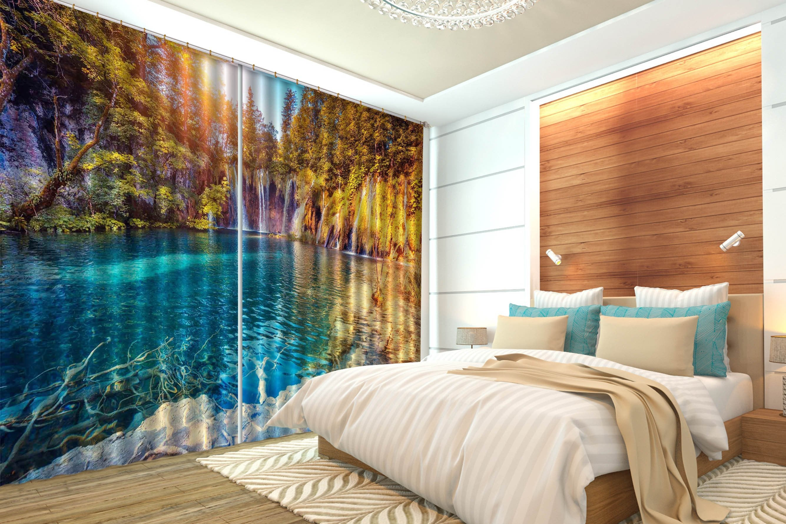 3D Beautiful Lake 645 Curtains Drapes Wallpaper AJ Wallpaper