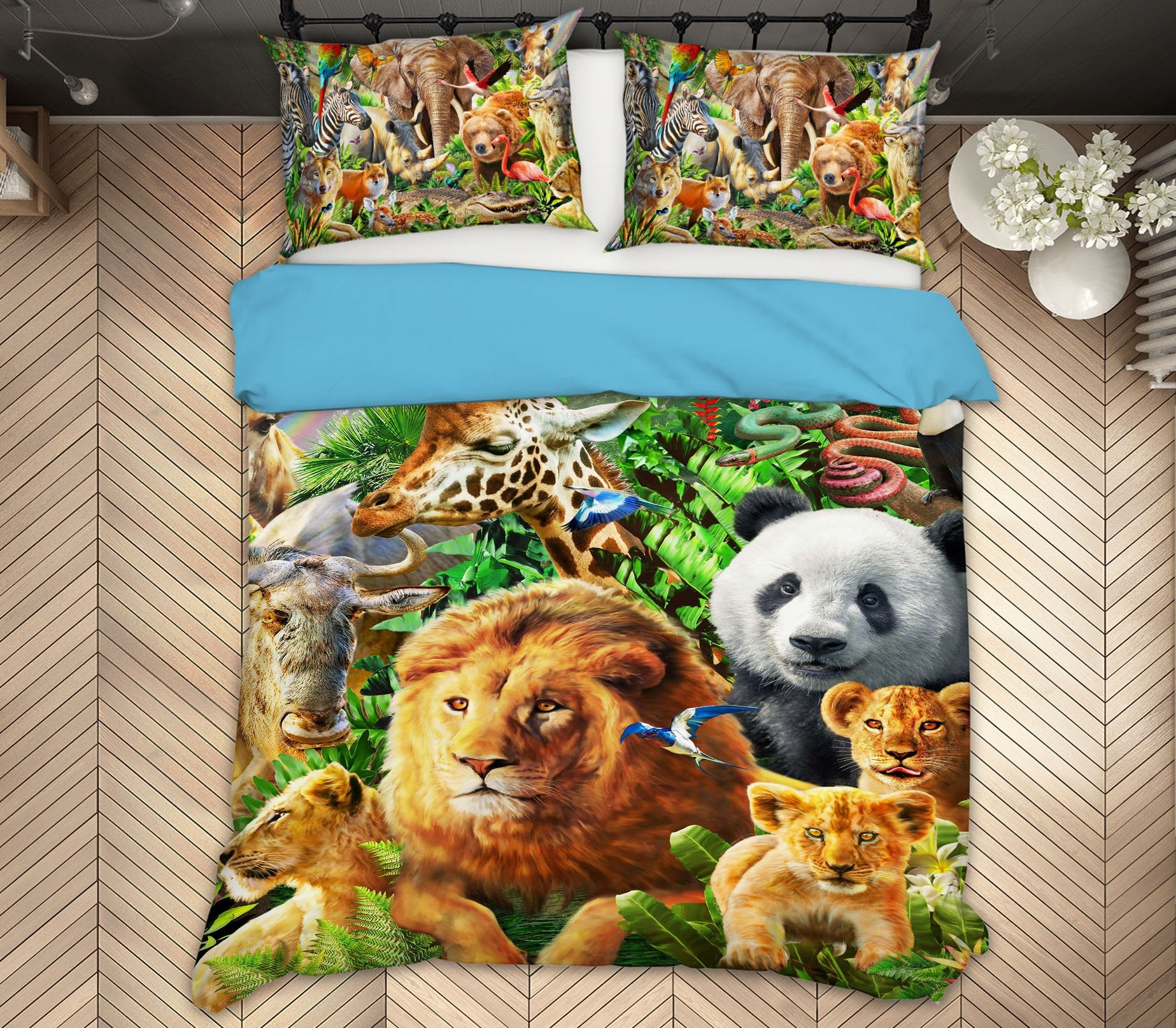 3D Animal World 2131 Adrian Chesterman Bedding Bed Pillowcases Quilt Quiet Covers AJ Creativity Home
