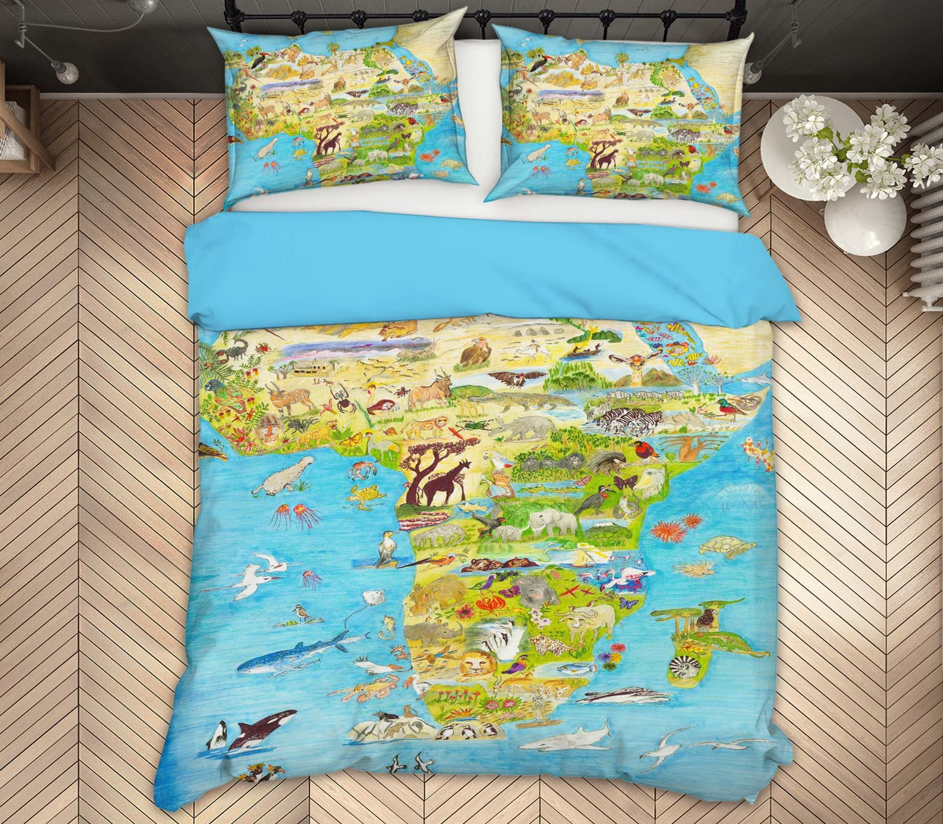 3D Africa Animal Pattern 018 Michael Sewell Bedding Bed Pillowcases Quilt