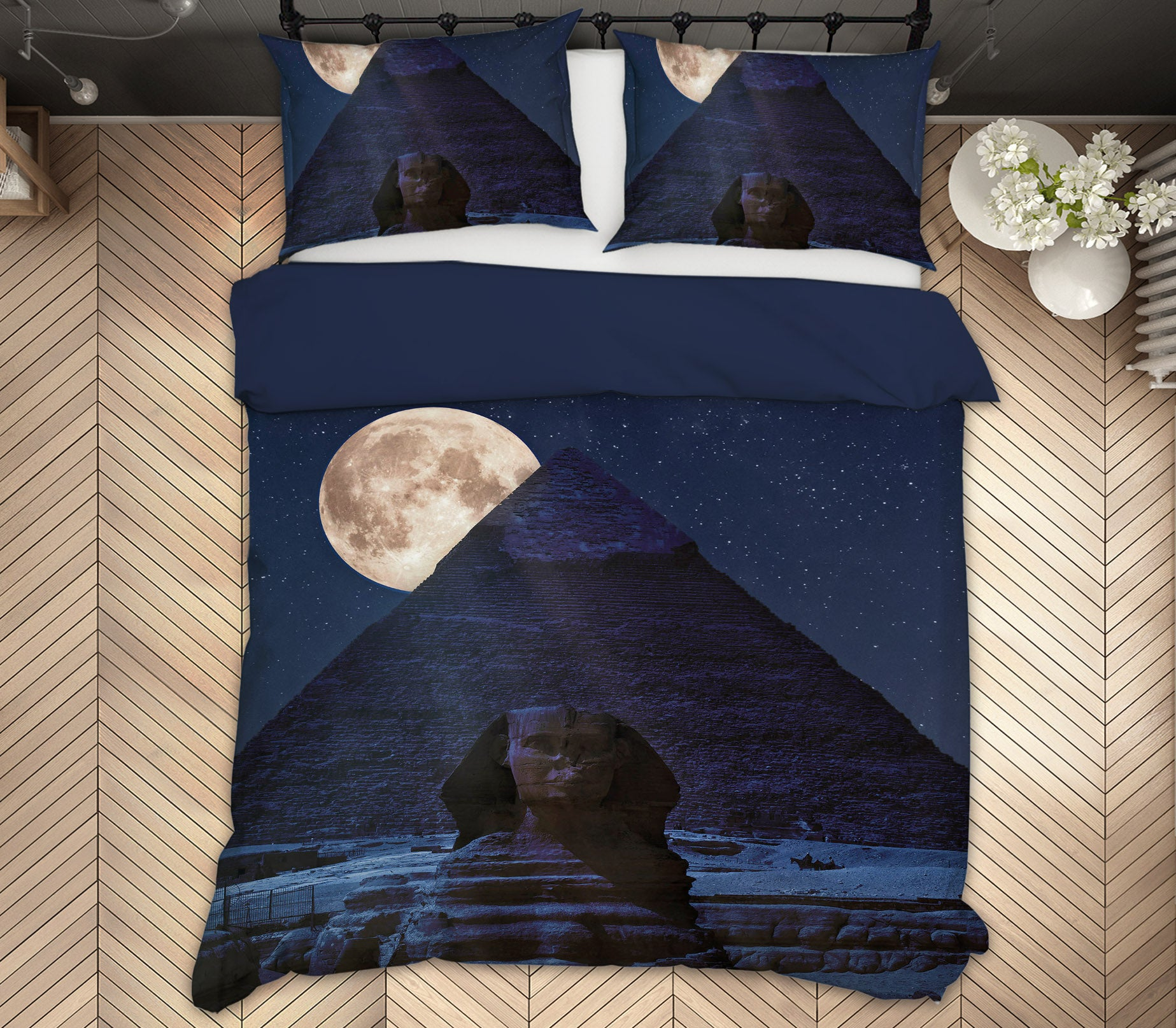 3D Moon Palace 155 Marco Carmassi Bedding Bed Pillowcases Quilt
