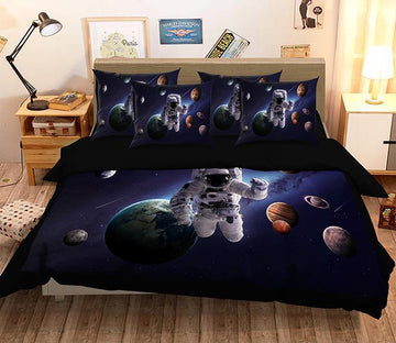3D Astronaut Planet 160 Bed Pillowcases Quilt Wallpaper AJ Wallpaper