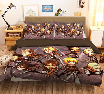 3D Attack On Titan 1654 Anime Bed Pillowcases Quilt Quiet Covers AJ Creativity Home