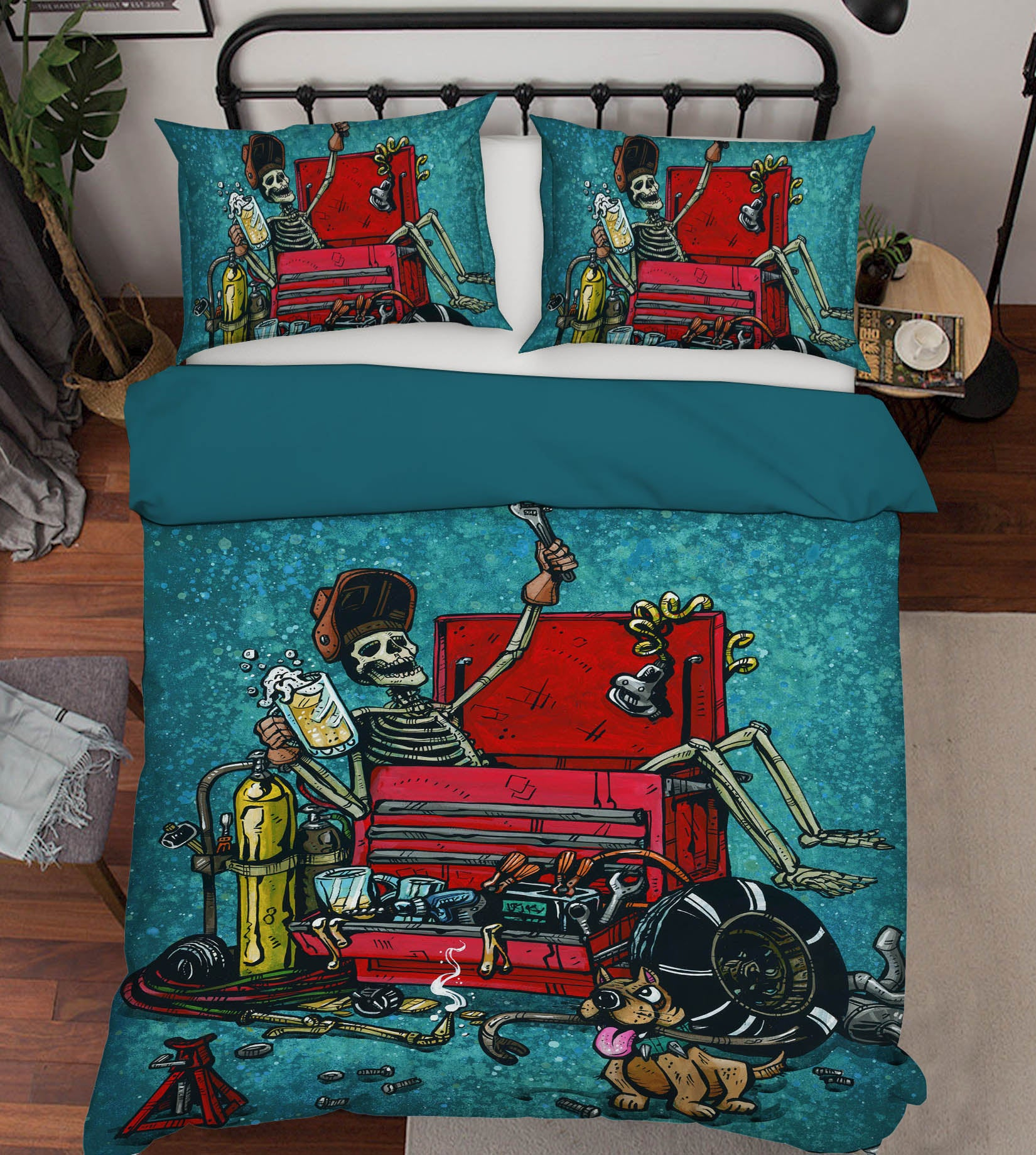 3D Skull Coffin 109 David Lozeau Bedding Bed Pillowcases Quilt
