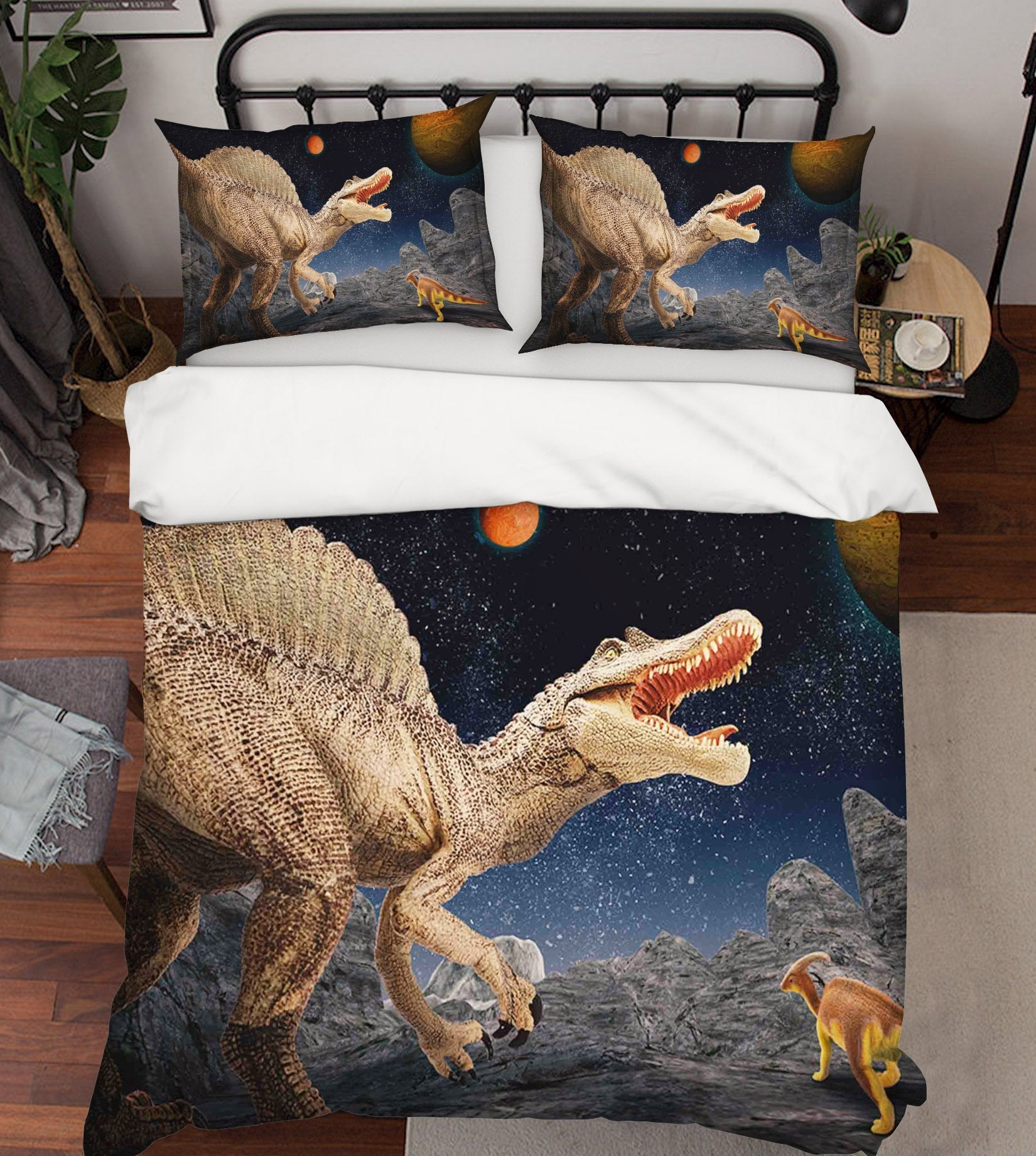 3D Planetary Dinosaur 087 Bed Pillowcases Quilt Wallpaper AJ Wallpaper