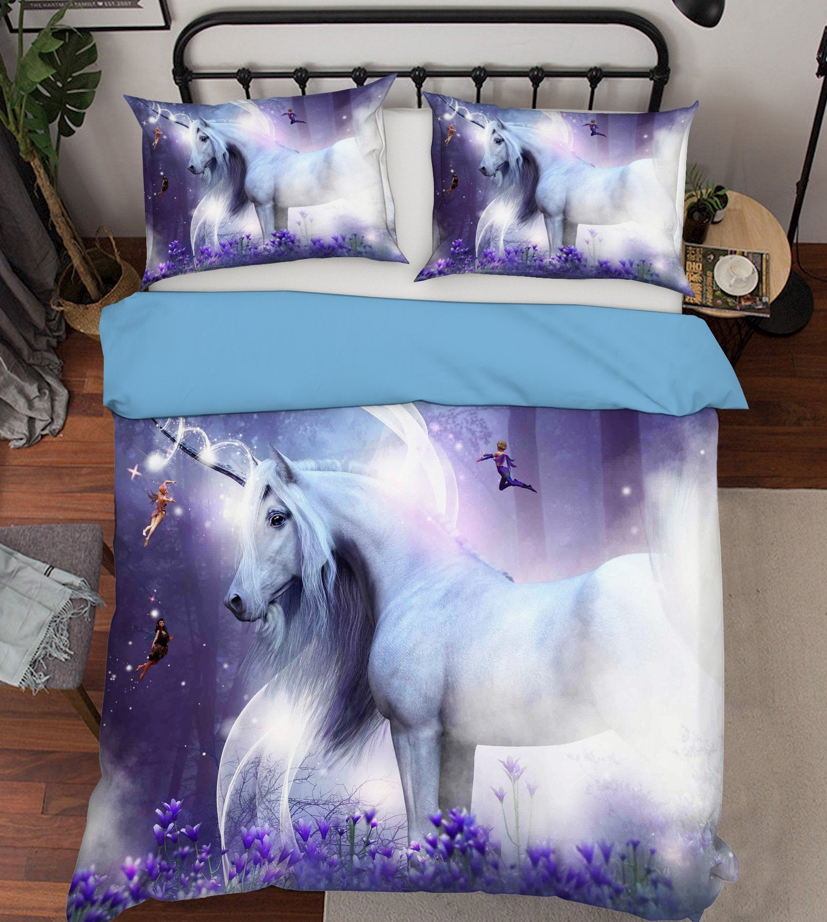 3D Dream Elf Unicorn 060 Bed Pillowcases Quilt Wallpaper AJ Wallpaper