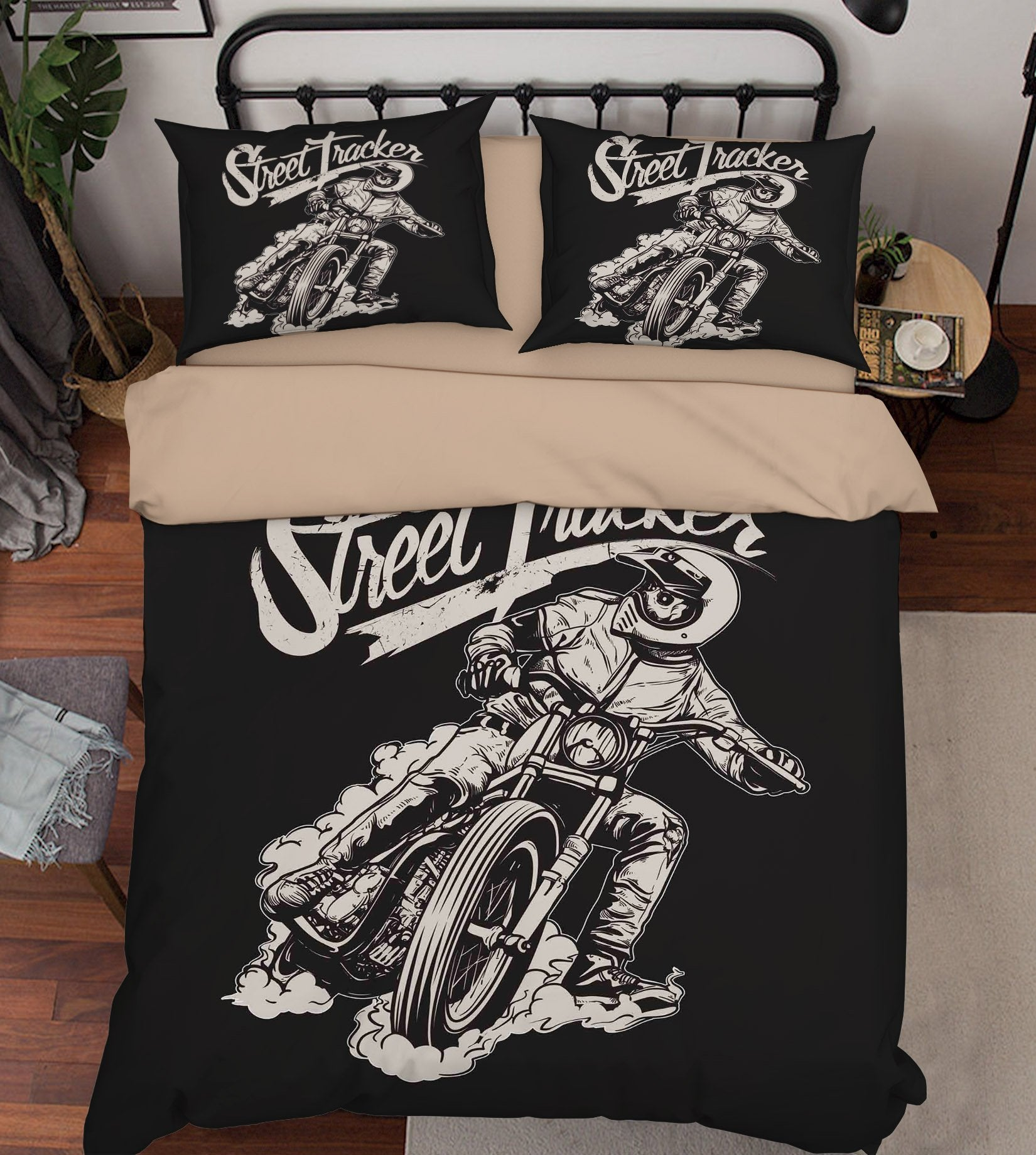 3D Riding A Motorcycle 117 Bed Pillowcases Quilt Wallpaper AJ Wallpaper