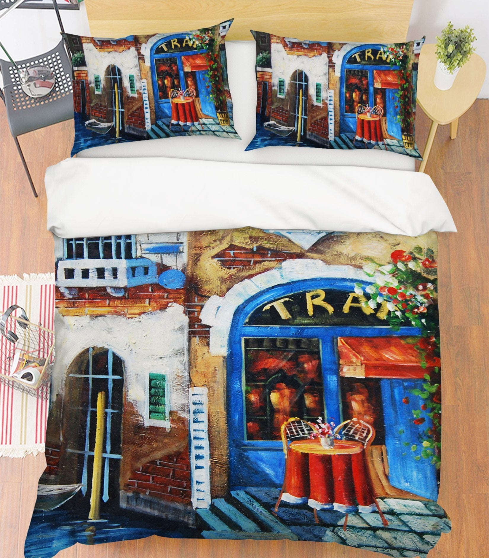 3D Shop Afternoon Tea 089 Bed Pillowcases Quilt Wallpaper AJ Wallpaper