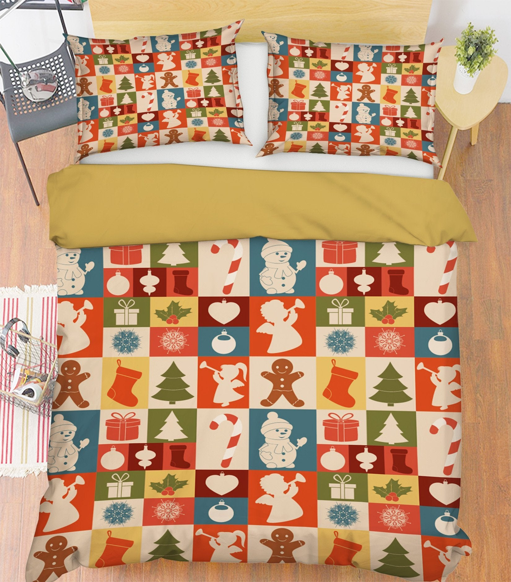 3D Christmas Plaid Pattern 31 Bed Pillowcases Quilt Quiet Covers AJ Creativity Home