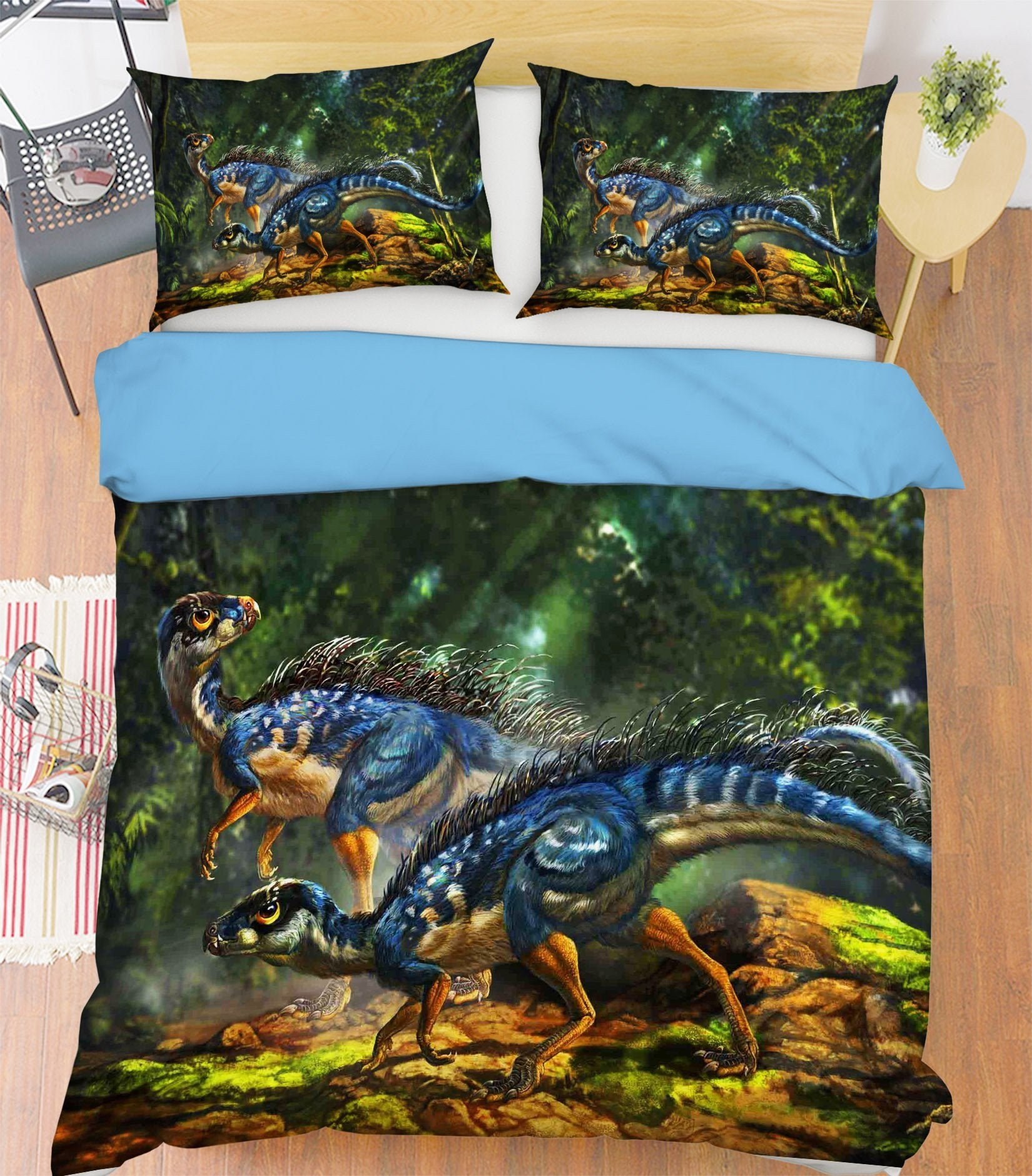 3D Blue Dragon 073 Bed Pillowcases Quilt Wallpaper AJ Wallpaper