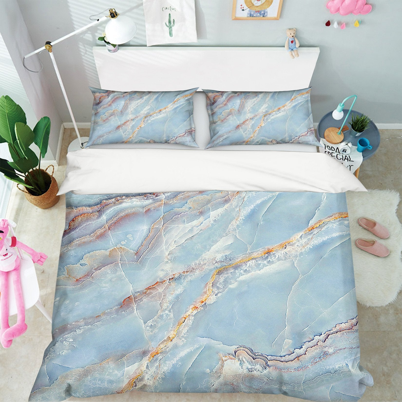 3D Marble Stone Pattern 030 Bed Pillowcases Quilt Wallpaper AJ Wallpaper