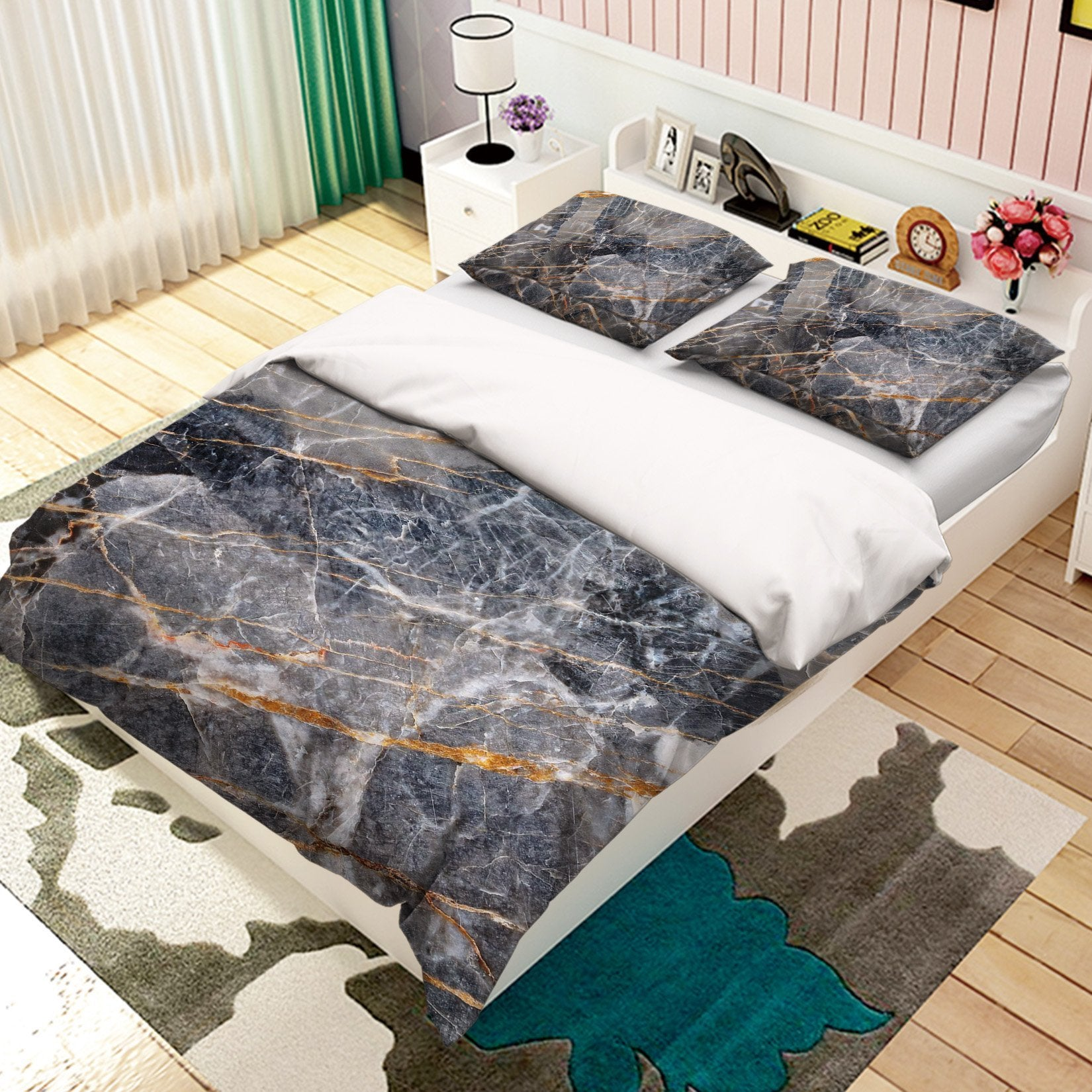 3D Crack Stone Pattern 018 Bed Pillowcases Quilt Wallpaper AJ Wallpaper