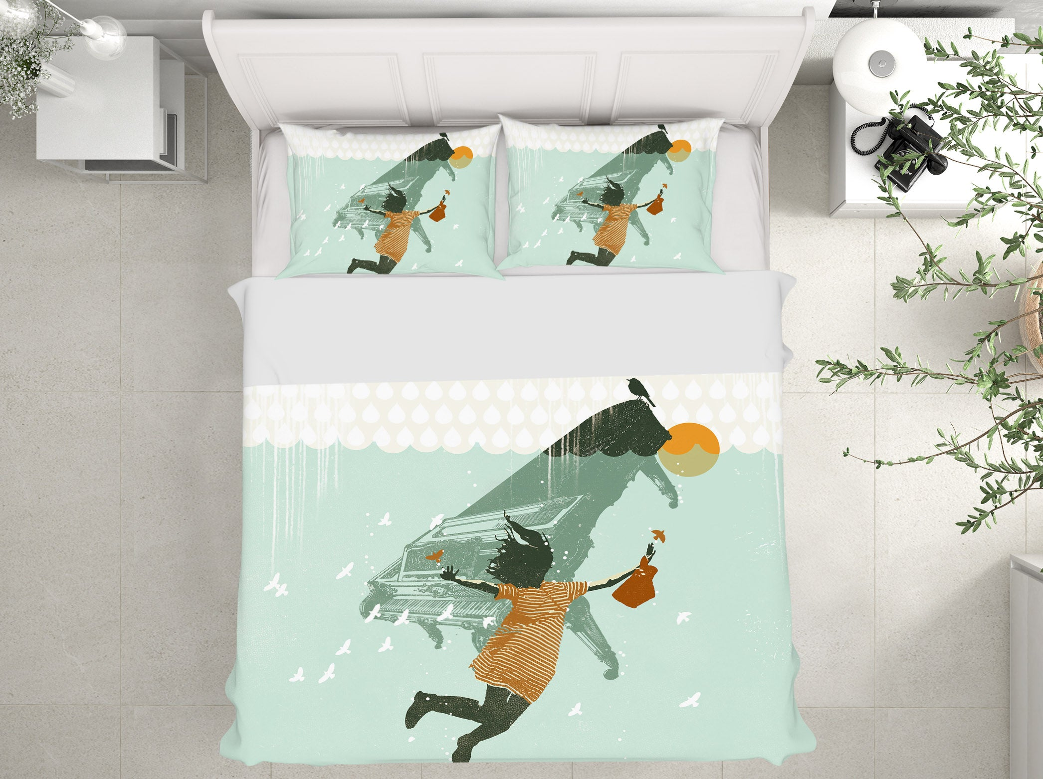 3D Swimming In Water 2119 Showdeer Bedding Bed Pillowcases Quilt