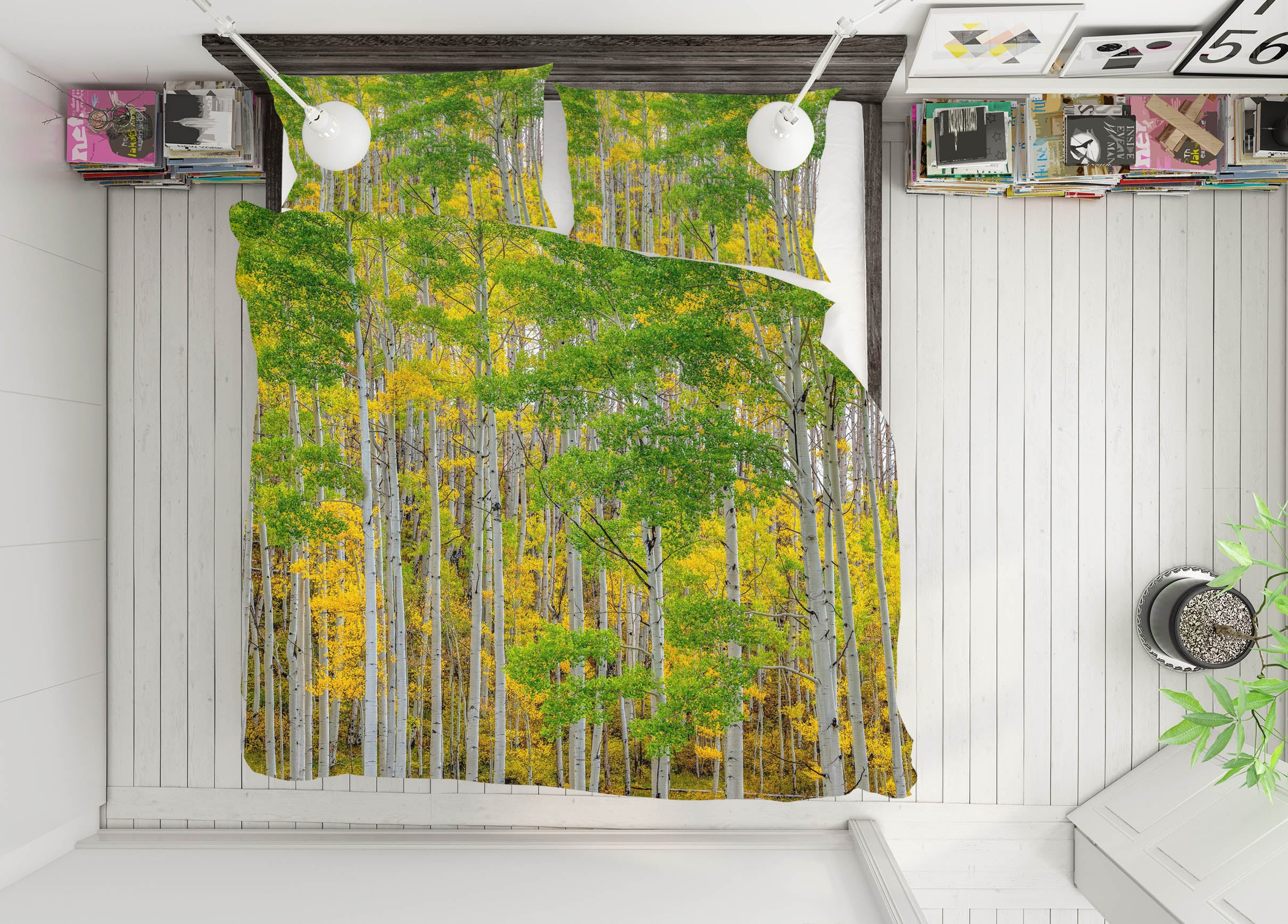 3D Forest Land 149 Marco Carmassi Bedding Bed Pillowcases Quilt