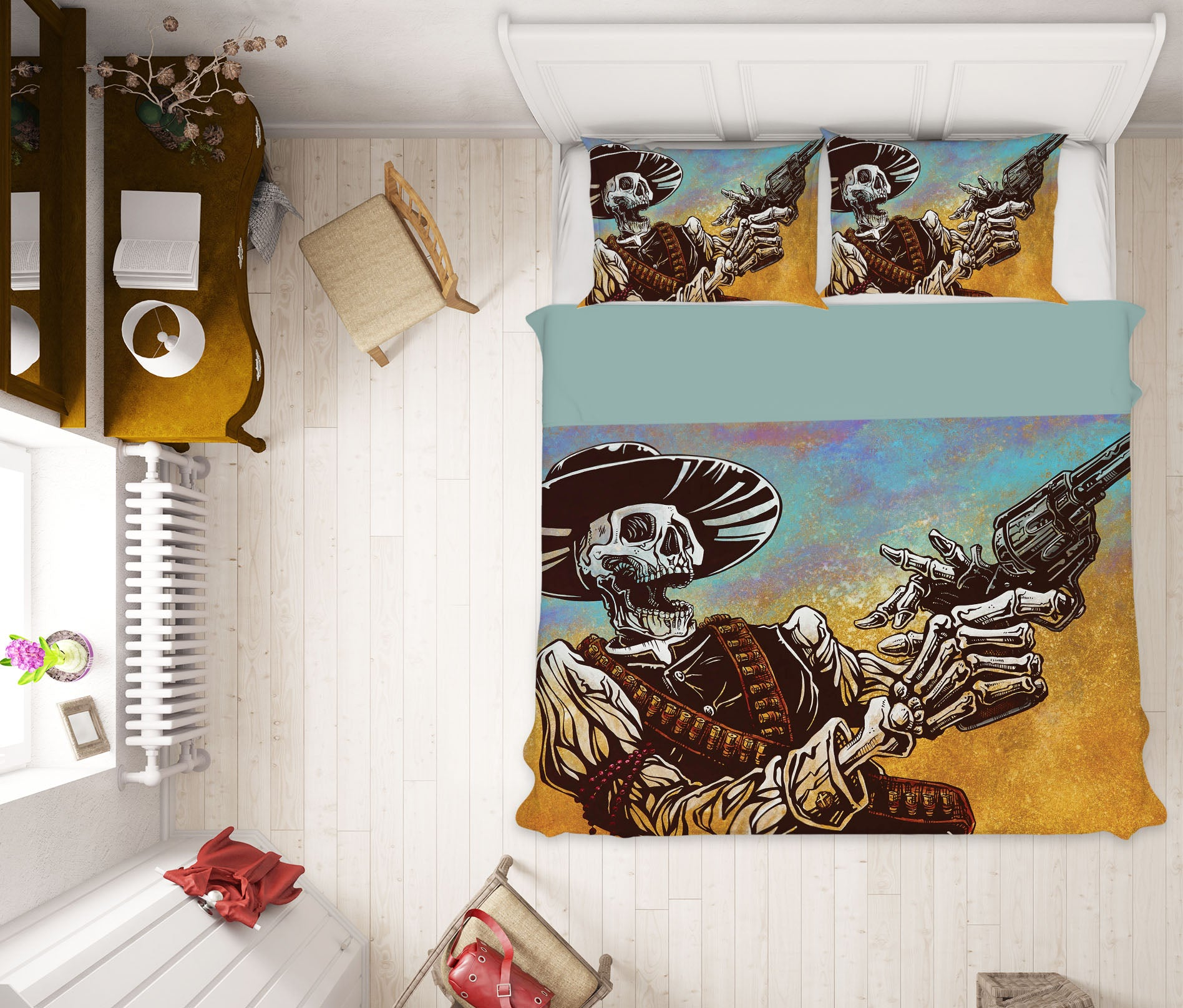 3D Skull Game 117 David Lozeau Bedding Bed Pillowcases Quilt