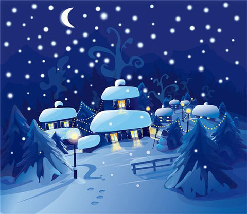 3D Christmas Eve Star Hut Moon 602 Wallpaper AJ Wallpapers
