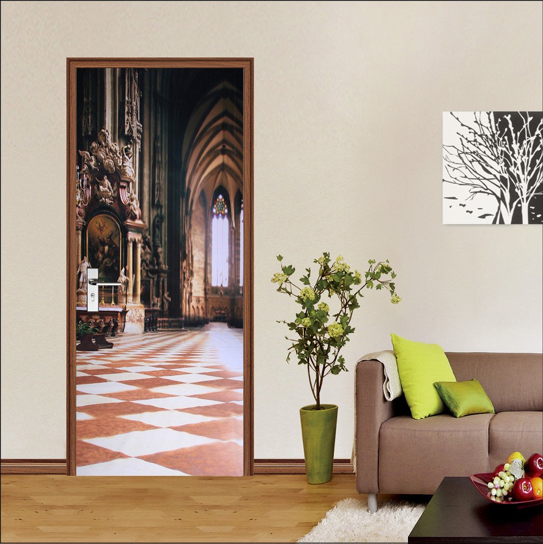 3D grand palace 78 door mural Wallpaper AJ Wallpaper