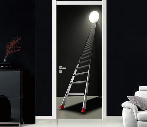 3D black hole ladder door mural & 3D black hole ladder door mural | AJ Wallpaper