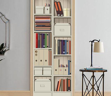 3D storage cabinets door mural Wallpaper AJ Wallpaper