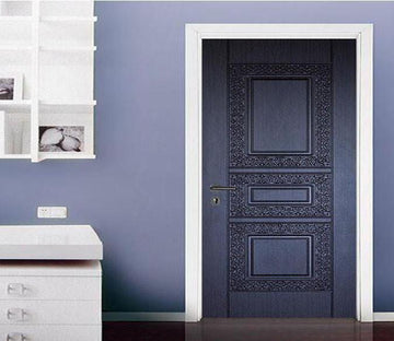 3D black carved painting door mural Wallpaper AJ Wallpaper