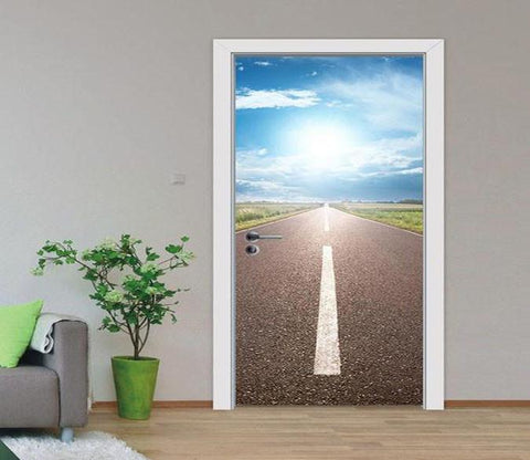 3D highway scenery 11 door mural & Door Murals - Door Wallpaper - U.S. Delivery | AJ Wallpaper