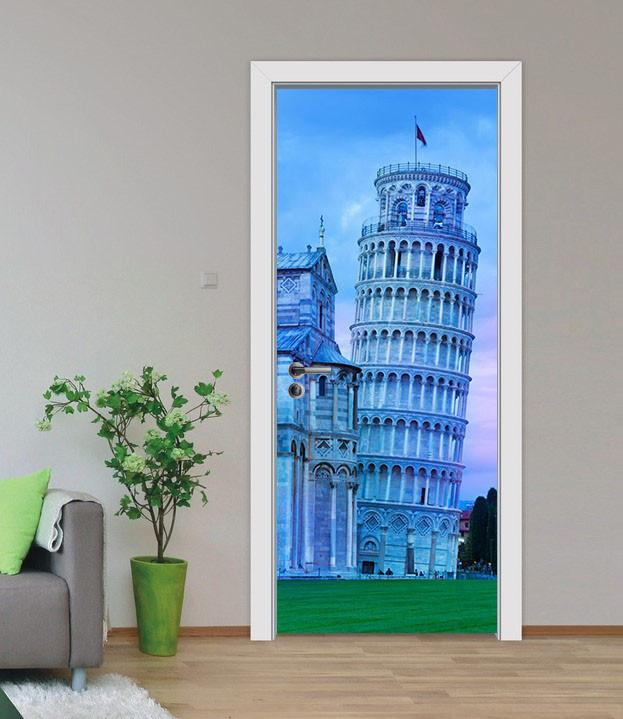 3D high-rise building door mural Wallpaper AJ Wallpaper