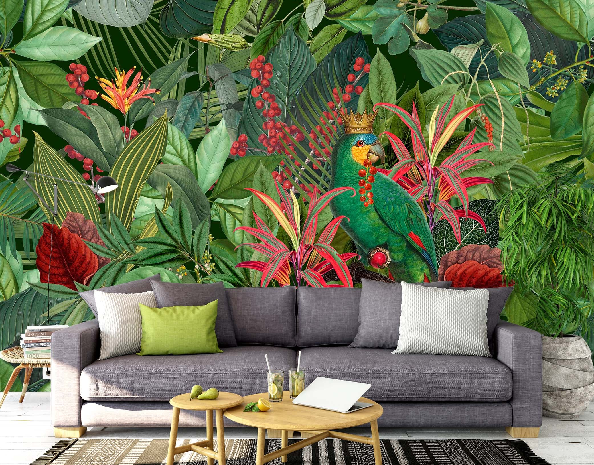 3D Forest Flowers 1002 Andrea haase Wall Mural Wall Murals