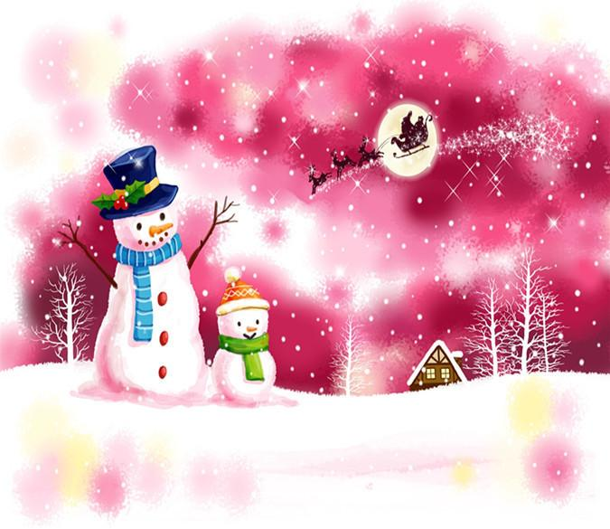 3D Christmas Snowman And Father Christmas 4 Wallpaper AJ Wallpapers