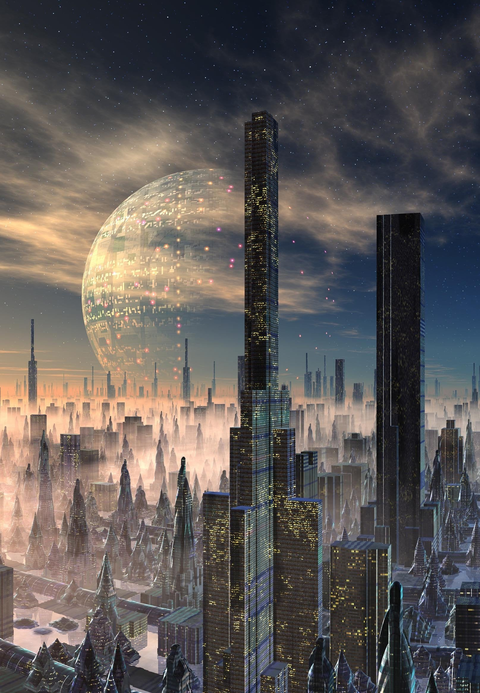 3D Exoplanet Buildings 1575 Stair Risers Wallpaper AJ Wallpaper