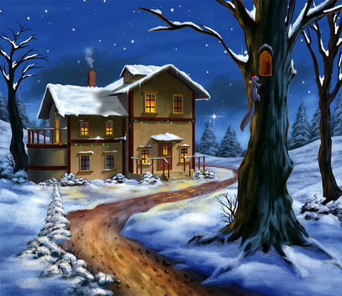 3D Christmas Eve Hut 663 Wallpaper AJ Wallpaper