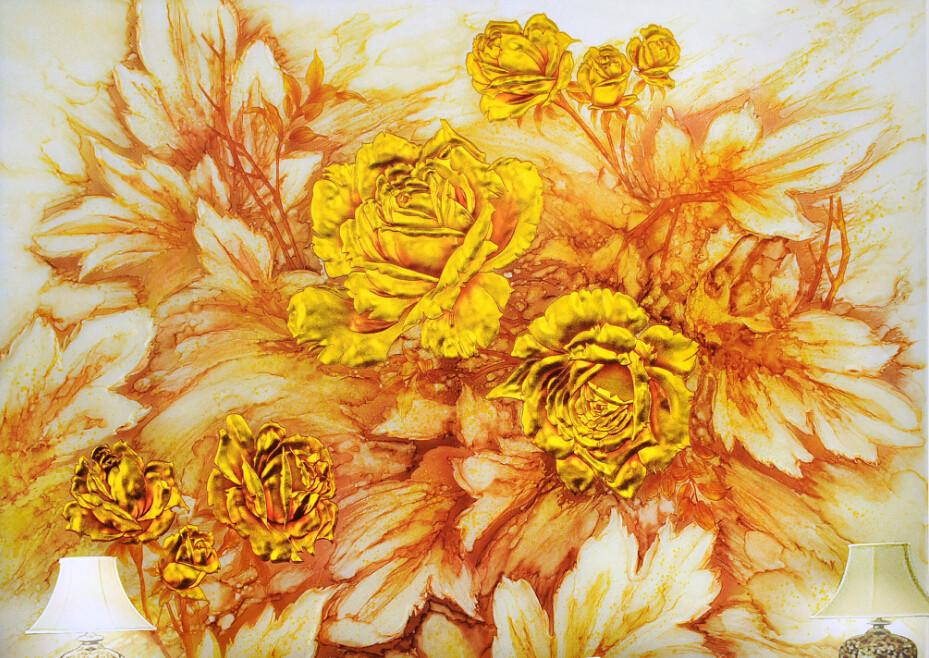 Yellow Peonies Wallpaper AJ Wallpaper