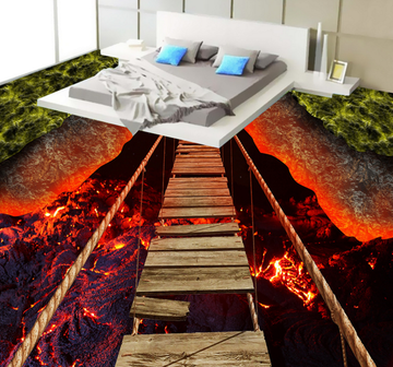 3D Volcanic 192 Floor Mural Wallpaper AJ Wallpaper 2