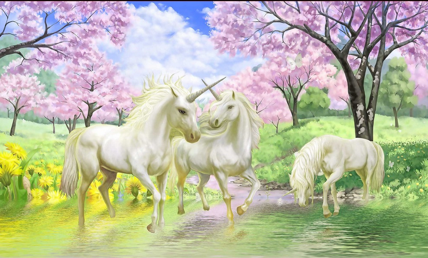 River Unicorns Wallpaper AJ Wallpaper 2