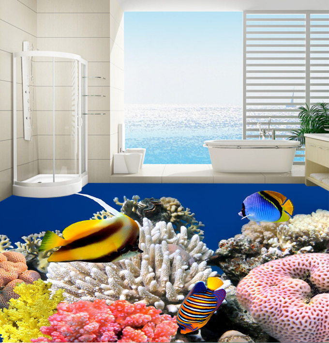 3D Bright Coral 181 Floor Mural Wallpaper AJ Wallpaper 2