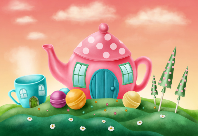 3D Kettle House Wallpaper AJ Wallpaper
