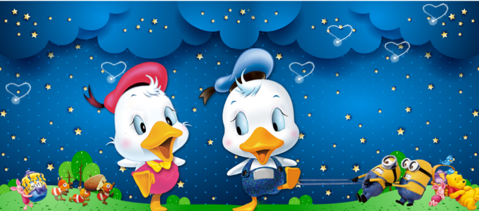 3D Dancing Ducks Wallpaper AJ Wallpaper