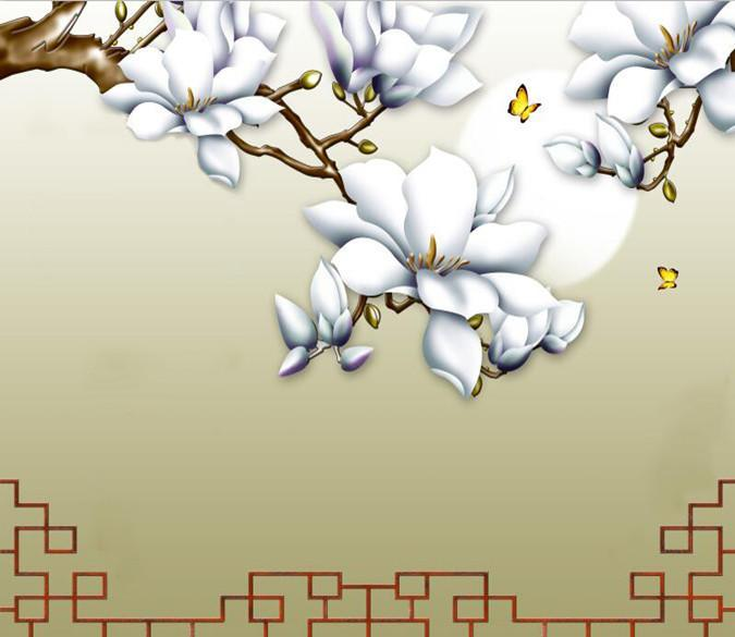 White Flower And Bright Moon 33 Wallpaper AJ Wallpaper 1