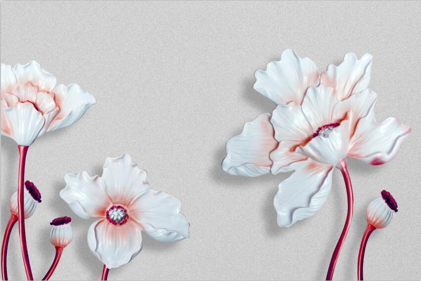 3D Floral large flowers Wallpaper AJ Wallpaper 1