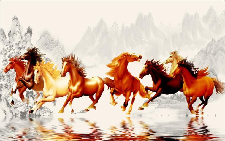 3D Animal horse run Wallpaper AJ Wallpaper 1